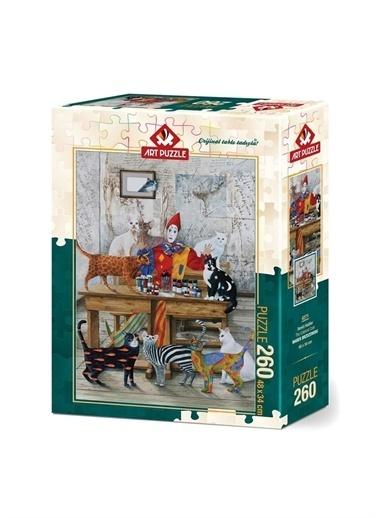 Art Puzzle Art Puzzle  Kediler 260 Parça Kutu Puzzle  Renksiz